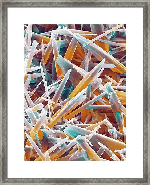 Kettle Limescale Framed Print by Power And Syred