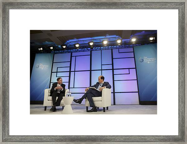 Key Speakers At The 2017 Montgomery Summit Framed Print by Bloomberg