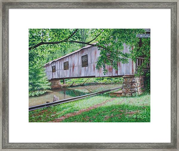 Kymulga Covered Bridge Framed Print