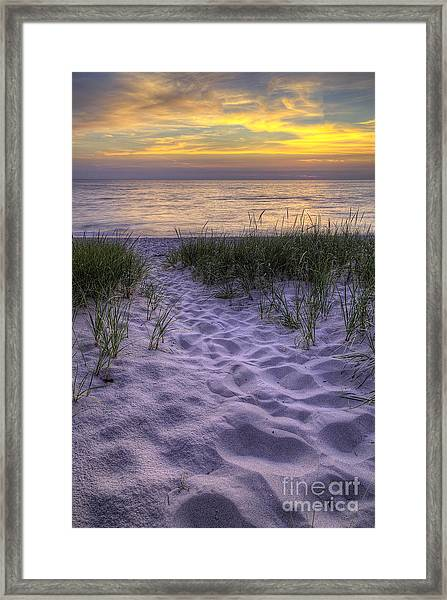 Lake Michigan Sunset Framed Print by Twenty Two North Photography