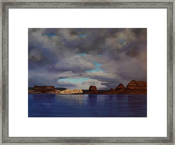 Lake Powell Storm Framed Print