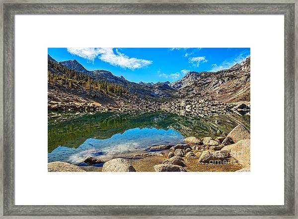 Lake Sabrina In Bishop Creek Canyon. Framed Print