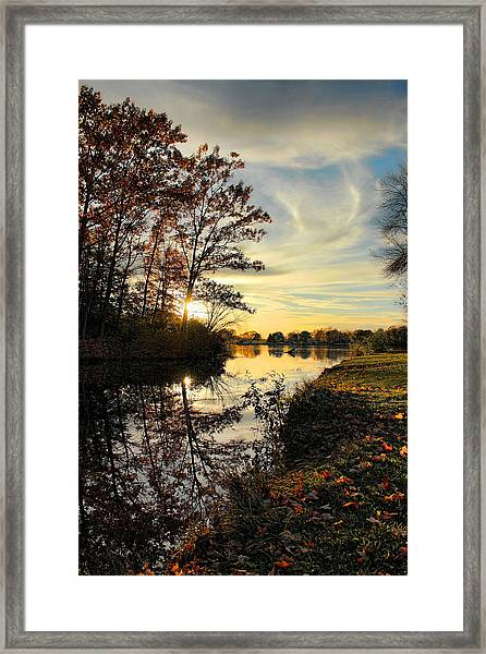 Lake Wausau Sunset Framed Print