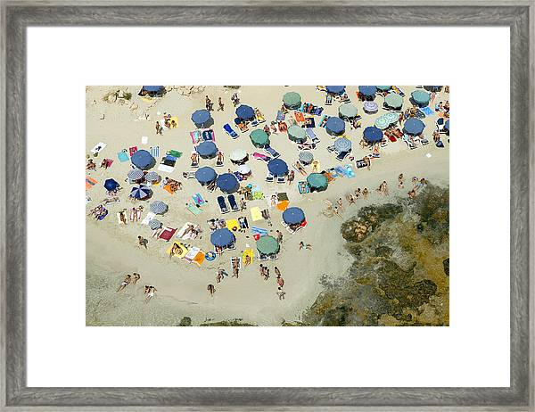 Las Salinas Beach, Ibiza Framed Print by Xavier Durán