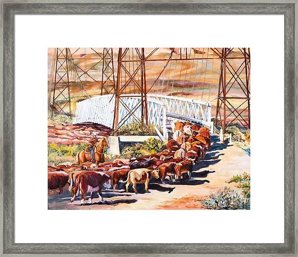 Last Drive Over Dewey Bridge Framed Print