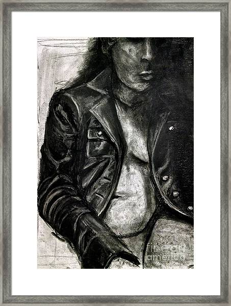 Leather Jacket Framed Print