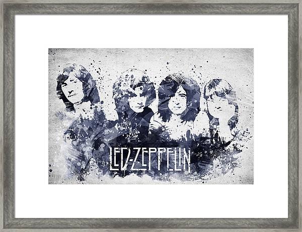 Led Zeppelin Portrait Framed Print