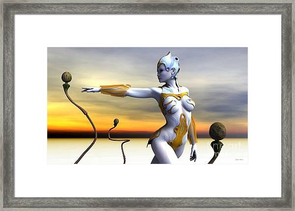 Lifeforms Framed Print by Sandra Bauser Digital Art