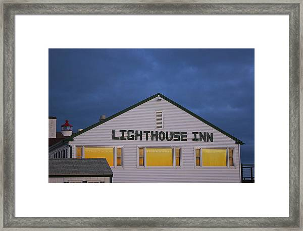 Lighthouse Inn Framed Print