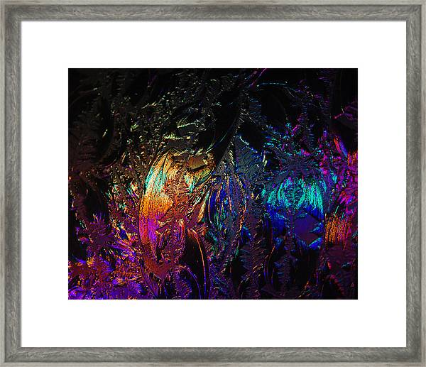 Lights Behind Frosted Glass Framed Print