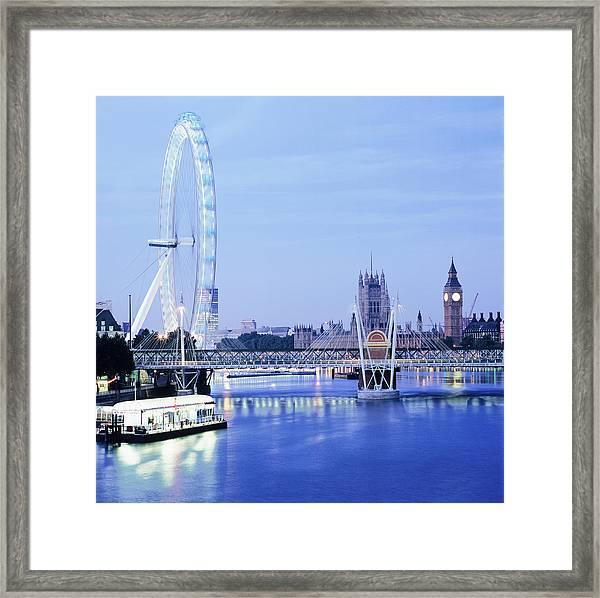 London Eye Framed Print by Mark Thomas/science Photo Library