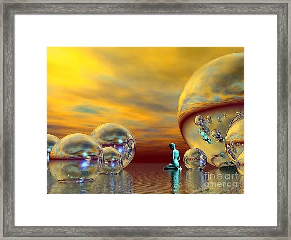 Framed Print featuring the digital art Loneliness by Sandra Bauser Digital Art