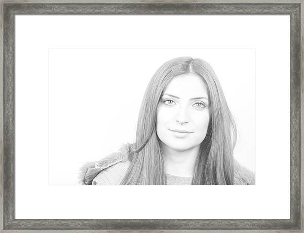 Looking Framed Print