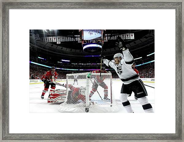 Los Angeles Kings V Chicago Blackhawks Framed Print by Jonathan Daniel