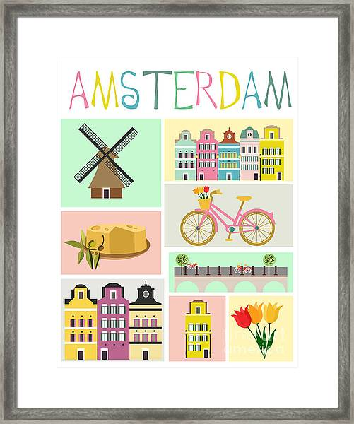 Love Amsterdam Framed Print