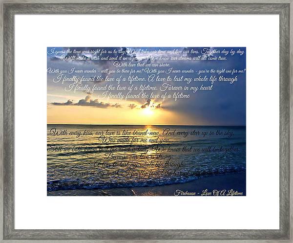 Love Of A Lifetime Framed Print