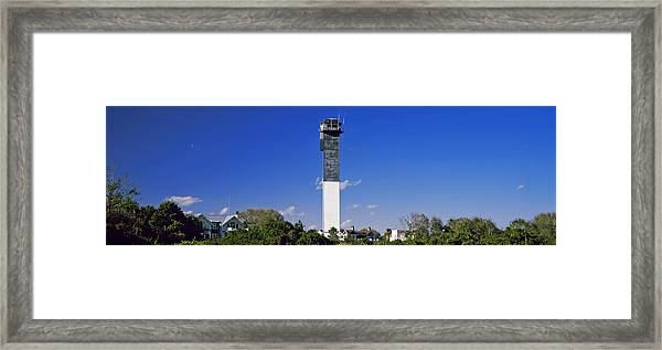 Low Angle View Of A Lighthouse Framed Print