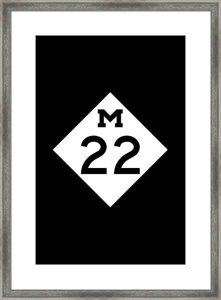 M 22 Framed Print