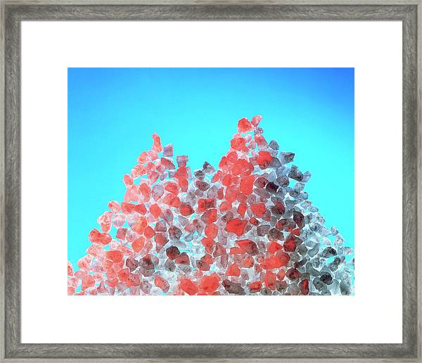 Macrophotograph Of Salt Crystals Framed Print