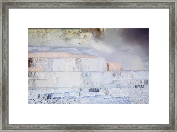 Mammoth Terraces Framed Print