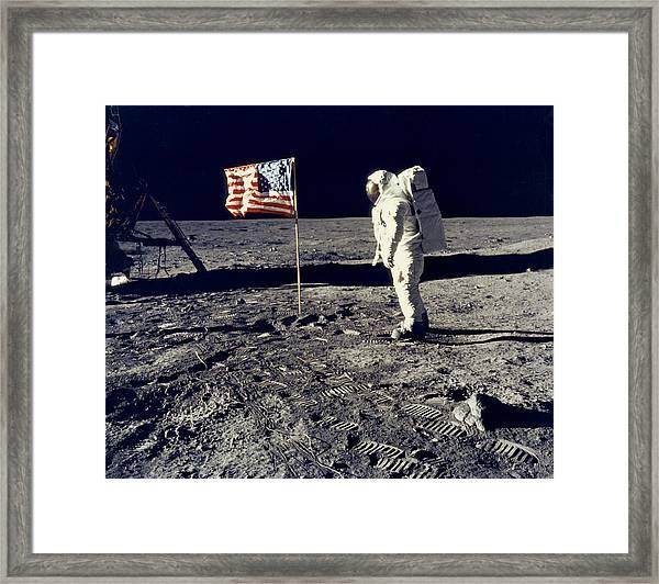 Man On The Moon Framed Print