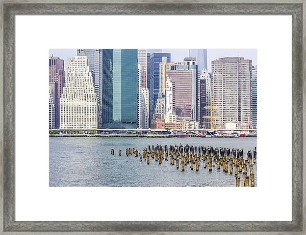 Manhattan On The East River Framed Print