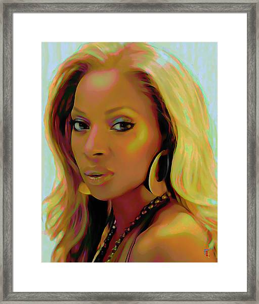 Mary J Blige Framed Print