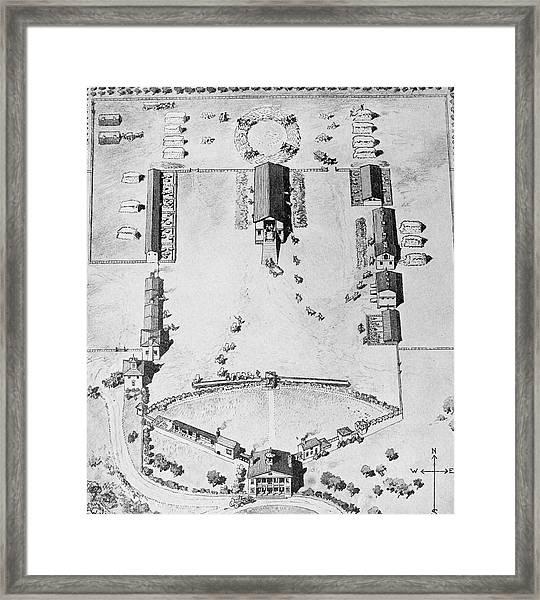 Maryland Plantation Framed Print