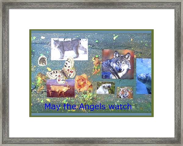 May The Angels Watch Framed Print
