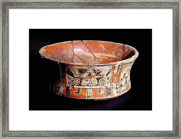 Mayan Vase Framed Print by Pasquale Sorrentino/science Photo Library