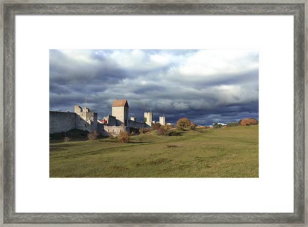 Medieval City Wall Defence Framed Print