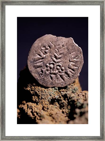 Medieval Silver Coin Framed Print by Pasquale Sorrentino/science Photo Library