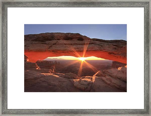 Mesa Arch Framed Print by Darryl Wilkinson