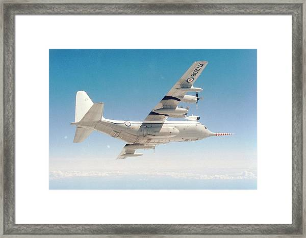 Met Office 'snoopy' Hercules Aircraft Framed Print by British Crown Copyright, The Met Office / Science Photo Library