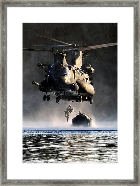 Mh-47 Chinook Helicopter Framed Print