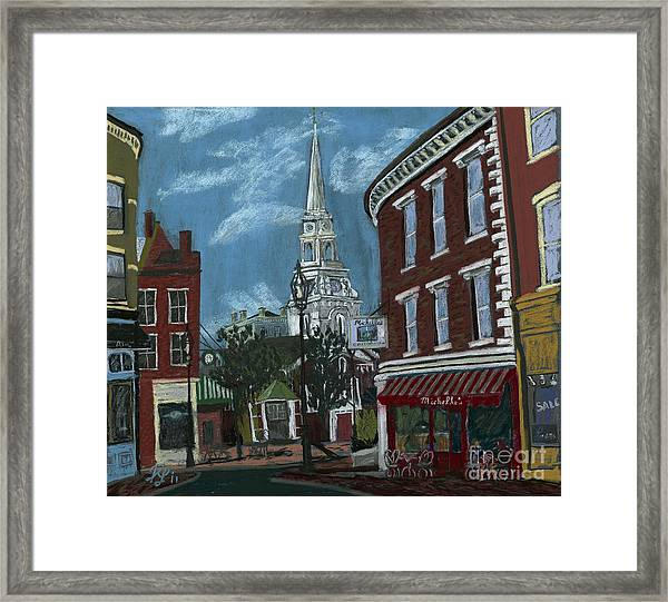 Michelle's On Market Square Framed Print