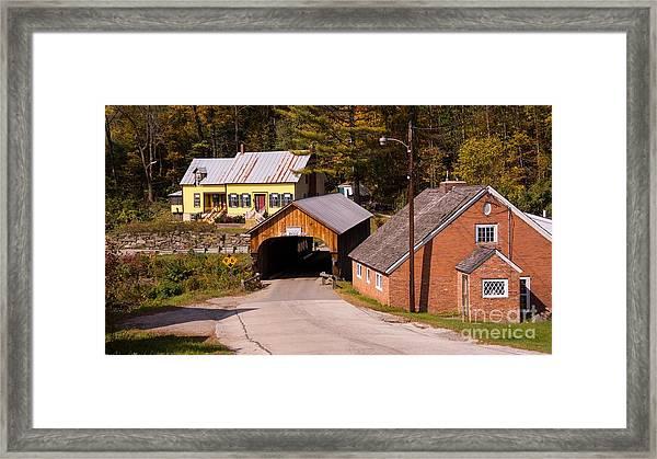 Mill Covered Bridge. Framed Print