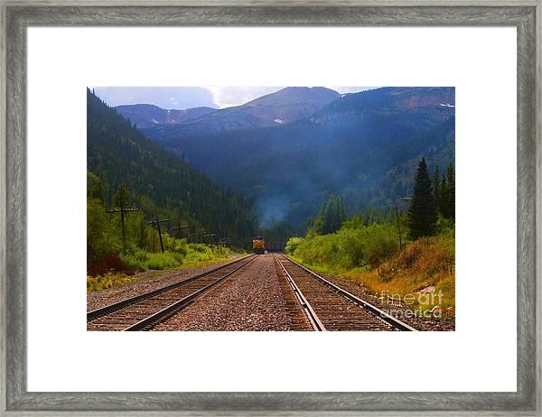 Misty Mountain Train Framed Print