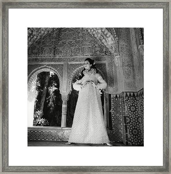 Model In The El Mirador De Lindaraja Framed Print by Henry Clarke