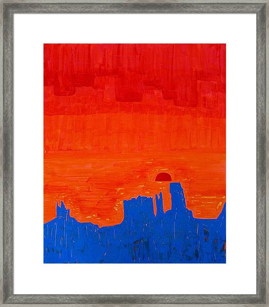 Monument Valley Original Painting Framed Print