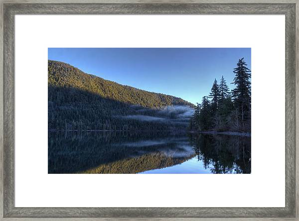 Framed Print featuring the photograph Morning Mist by Randy Hall