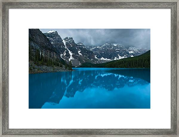 Morning Moraine Framed Print