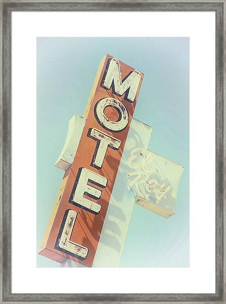 Framed Print featuring the photograph Motel El Rey by Gigi Ebert