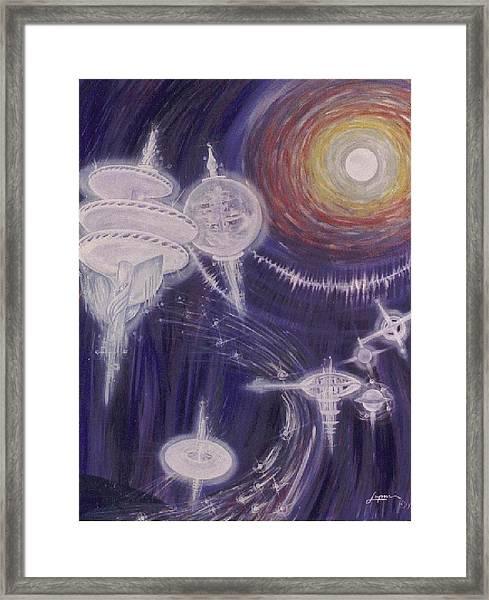 Mother Ships Framed Print