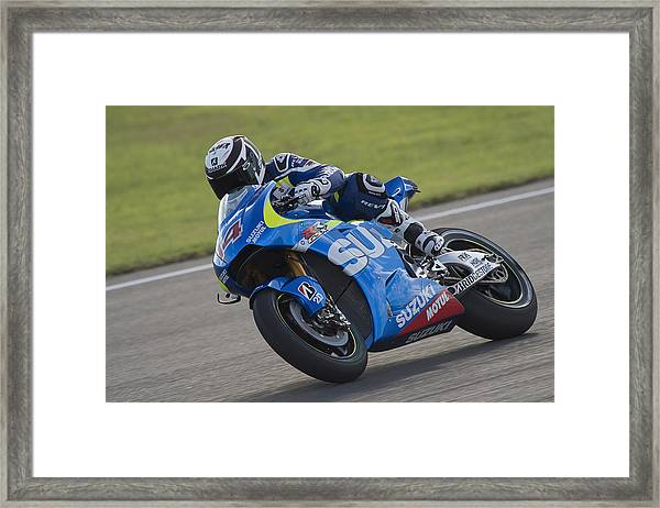Motogp Of Valencia - Free Practice Framed Print by Mirco Lazzari gp