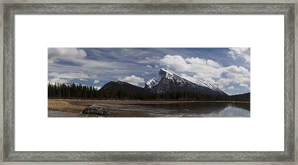 Mount Rundle And Vermilion Lake Framed Print