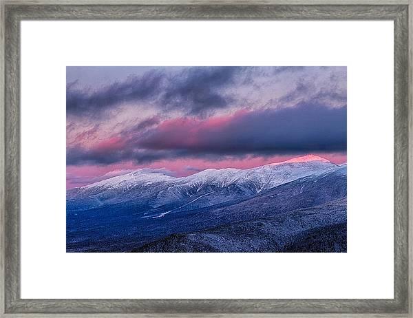 Mount Washington Summit In The Alpenglow Framed Print