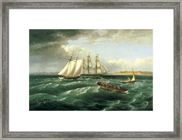 Mouth Of The Delaware Framed Print