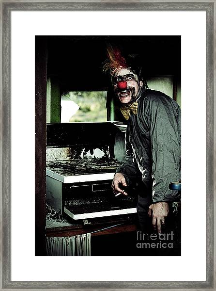 Mr Bungle The Kitchen Clown Framed Print