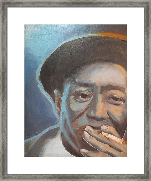 Muddy Waters Blues Guitarist Framed Print